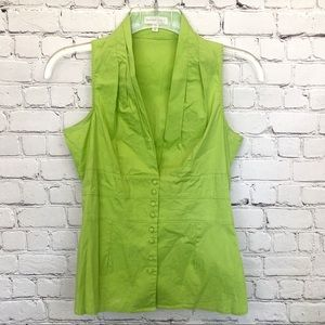 Mustard seed by do&be green sleeveless blouse